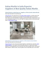 Italian Marble in India Exporter, Suppliers of Best Quality Italian Marble