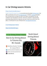In Car Driving Lessons Victoria