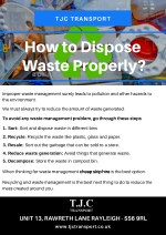 How to Dispose Waste Properly - TJC Transport