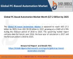 Global PC-Based Automation Market Worth $27.2 Billion by 2025