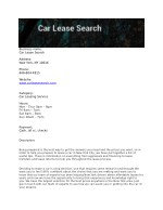Car Lease Search