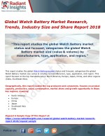 Global Watch Battery Market Research, Trends, Industry Size and Share Report 2018