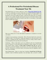 A Professional For Periodontal Disease Treatment Near Me