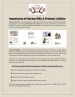 Importance of Having Wills & Probate' Solicitor
