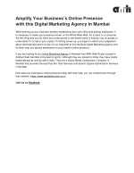 Amplify Your Business's Online Presence with this Digital Marketing Agency in Mumbai