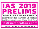 UPSC IAS Prelims 2019, Current Affairs 2019, Mock Test series 2019