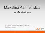 Marketing Plan Template for Manufacturers