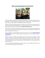 Ideal Landscaping Agency And Services