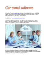 Rental car software