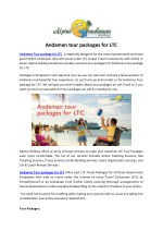 Andaman tour packages for LTC