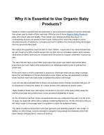 Why it is Essential to Use Organic Baby Products?