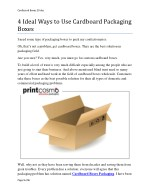 4 Ideal Ways to Use Cardboard Packaging Boxes