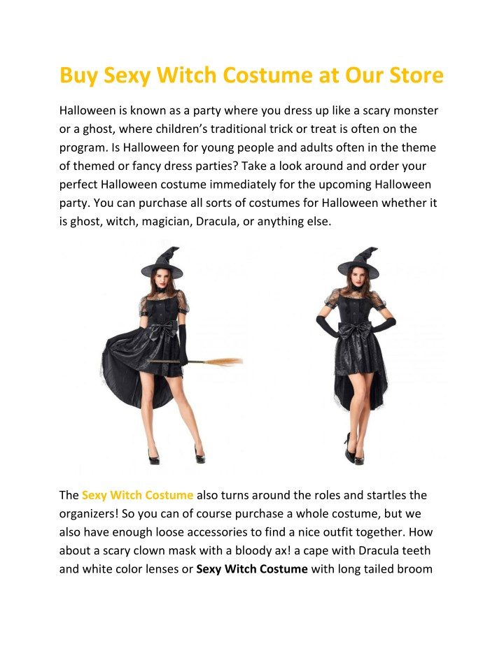 buy sexy witch costume at our store n.
