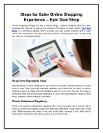 Steps for Safer Online Shopping Experience – Epic Deal Shop