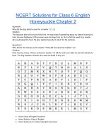 NCERT Solutions for Class 6 English Honeysuckle Chapter 2