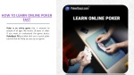 How to Learn Online Poker Fast in India