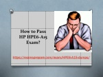 Buy HP HPE6-A15 Exam Real Questions - HP HPE6-A15 100% Passing Guarantee
