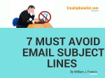 7 MUST AVOID EMAIL SUBJECT LINE