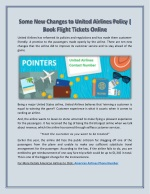 United Airlines Contact Number 1 888 388 8718| Online Flight Tickets