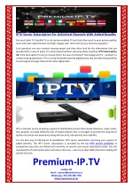 IPTV Server Subscription For Unlimited Channels With Added Benefits