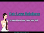 Hair loss solutions for prevent hair loss from hair fall