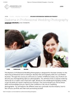 Diploma in Professional Wedding Photography - Course Gate