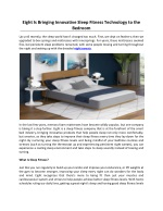 Eight Is Bringing Innovative Sleep Fitness Technology to the Bedroom