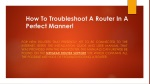 How To Troubleshoot A Router In A Perfect Manner!