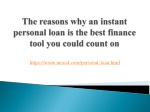 The reasons why an instant personal loan is the best finance tool you could count on