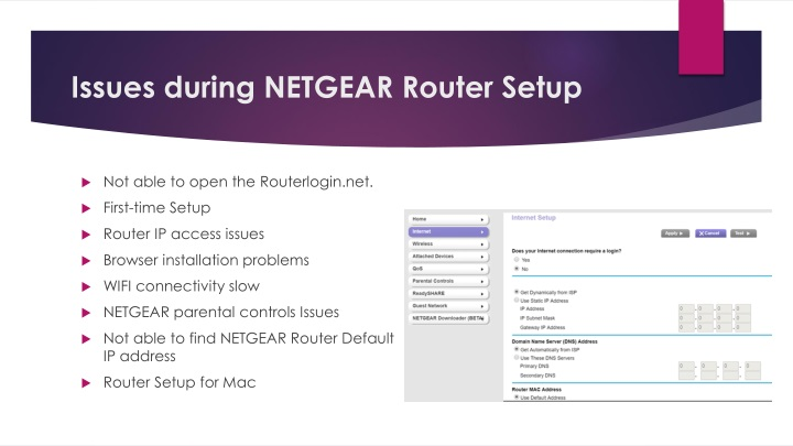 PPT - Issues during NETGEAR Router Setup PowerPoint
