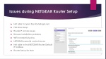 Issues during NETGEAR Router Setup