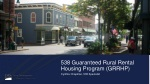 538 Guaranteed Rural Rental Housing Program (GRRHP)