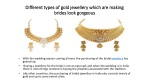 Different types of gold jewellery which are making brides look gorgeous