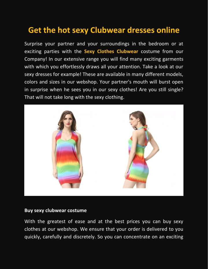 get the hot sexy clubwear dresses online n.