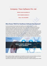 Why Choose TRACE for Healthcare Software Development?