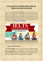 Buy Genuine IELTS Certificate Without Exam And Realise Your Dream To Go Abroad