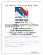EBG Celebrates: UK eCommerce Awards 2019 Finalists