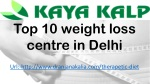 Top 10 weight loss centre in Delhi