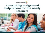 Accounting assignment help is here for the needy learners