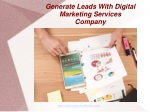 Generate leads with Digital Marketing Services Company