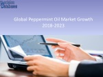 Peppermint Oil Market – Global Industry Analysis & Outlook 2018-2023
