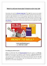 Want to sell your house fast? Contact us for easy sale