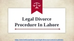 Professional Lawyer In Lahore Pakistan | Legal Divorce Procedure In Lahore