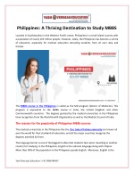 Philippines - A Thriving Destination to Study MBBS