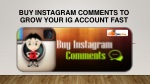 Buy Instagram Comments to Grow Your IG Account Fast