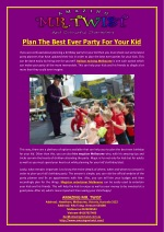 Plan The Best Ever Party For Your Kid
