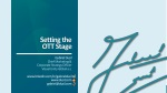 OTT & Multiscreen • Web Seminar • #1 • Setting the Stage for Over the Top Services