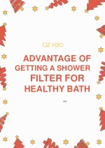 Advantage of Getting a Shower Filter For Healthy Bath