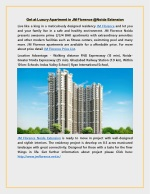 Get at Luxury Apartment in JM Florence @Noida Extension