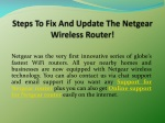 Steps To Fix And Update The Netgear Wireless Router!